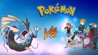 Roblox Project Pokemon // Mega-Gyarados Beating The Elite Four // Solo Sweep #1