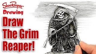How to draw the Grim Reaper - spoken tutorial