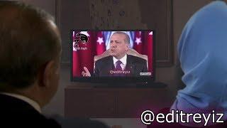 Recep Tayyip Erdoğan kendi şarkı montajlarını ve Fatih Portakal'ı izliyor