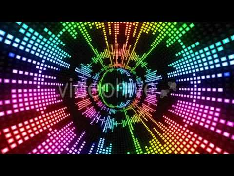 Motion Graphic Vj Dance Colorful Disco Ball Light