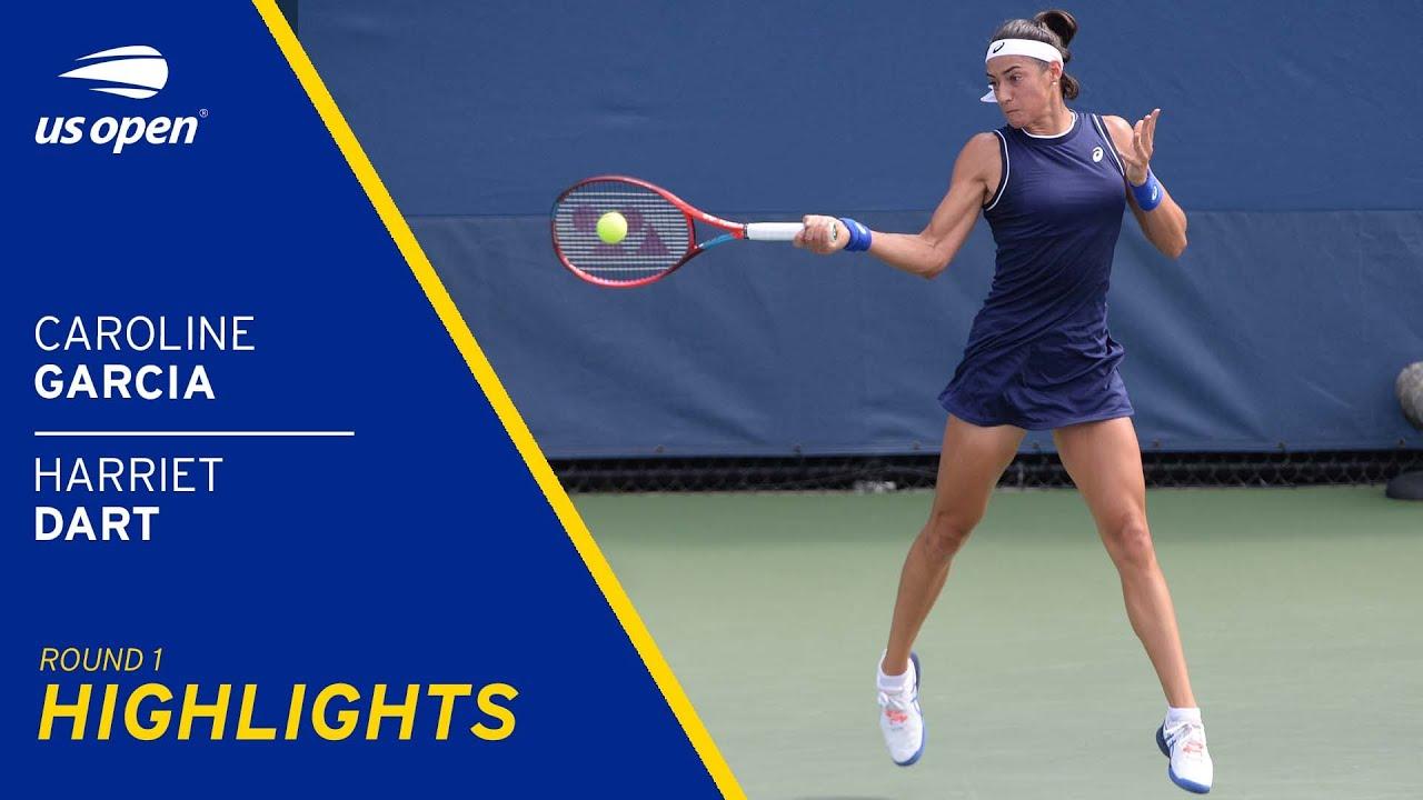 Caroline Garcia vs Harriet Dart Highlights | 2021 US Open Round 1