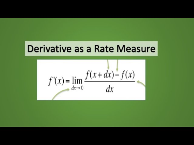 Derivative as a Rate Measure: Mathematics Class 12
