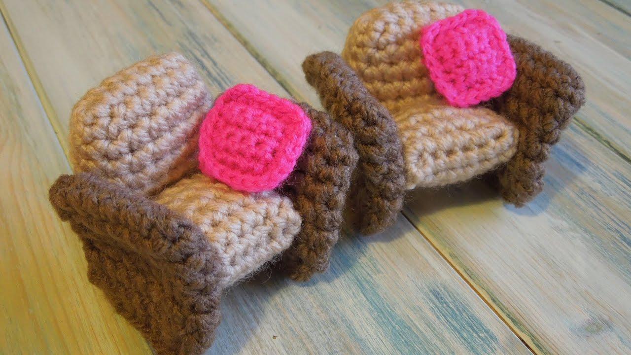Crochet How To Crochet A Doll S House Armchair Yarn