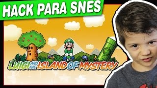 Luigi and the island of mystery - HACK - SNES - Gameplay Comentado em Português PT-BR