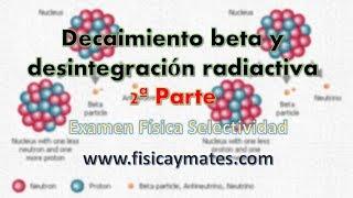 Ejercicio de Desintegración radiactiva | Examen Física Selectividad