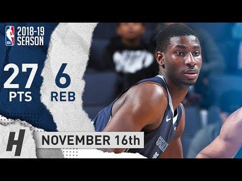 Jaren Jackson Jr. Full Highlights Grizzlies vs Kings 2018.11.16 - 27 Pts, 17 Reb, EPIC!