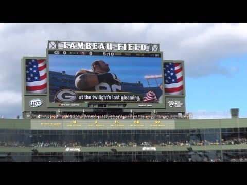 National Anthem & Flyover - Green Bay Packers 2012 Home Opener - Lambeau Field 9/9/12