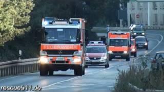 4x Feuerwehr + 5x Rettungsdienst + 7x Polizei