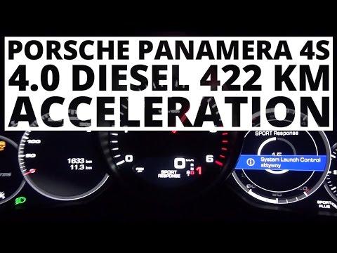 Porsche Panamera 4S 4.0 Diesel  422 hp (AT) - acceleration 0-100 km/h