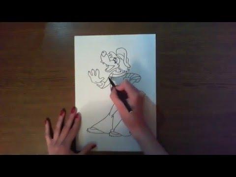 Простые рисунки | волк из ну погоди