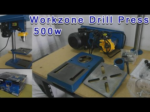 ✓ALDI 500w Drill Press Workzone unboxing / assembly - YouTube
