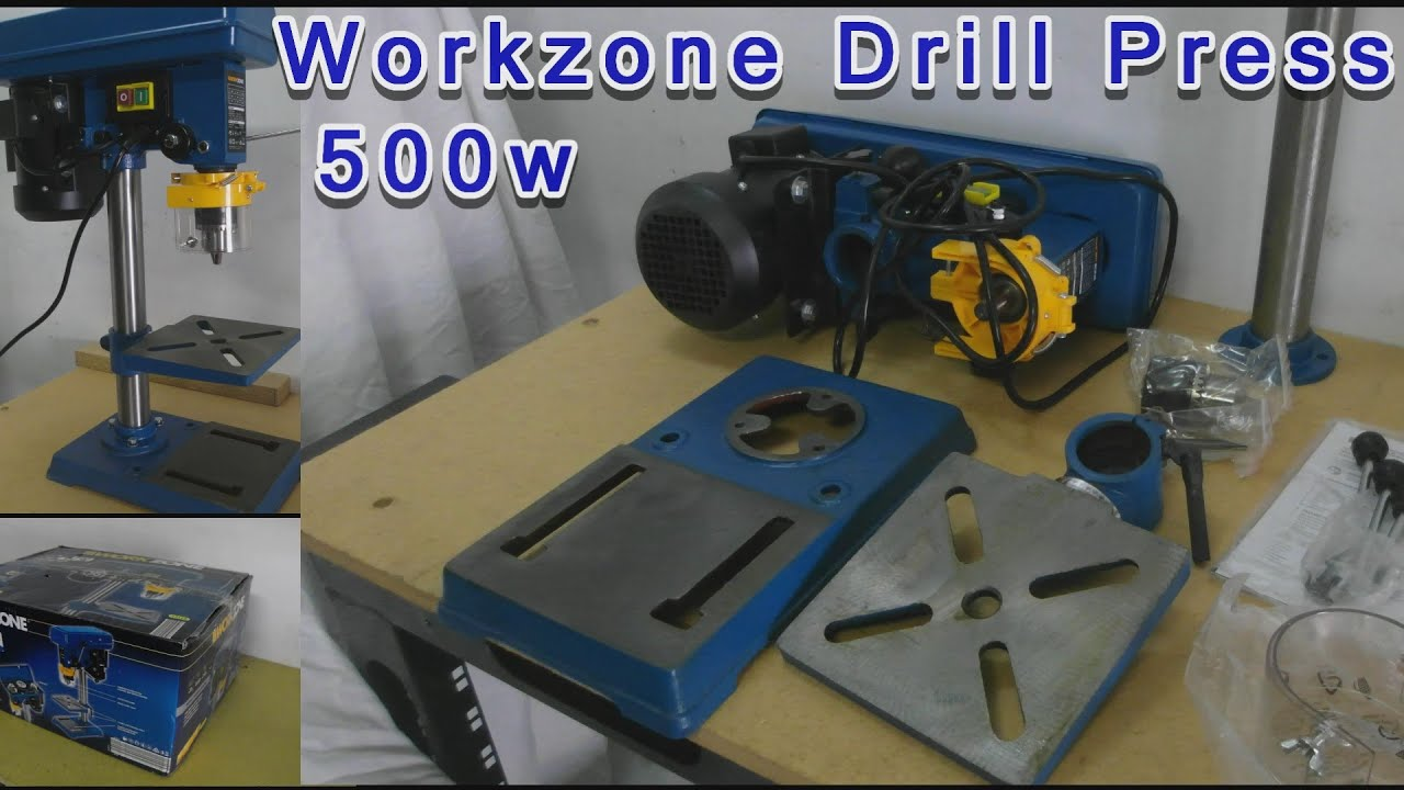aldi 500w drill press workzone unboxing assembly youtube. Black Bedroom Furniture Sets. Home Design Ideas