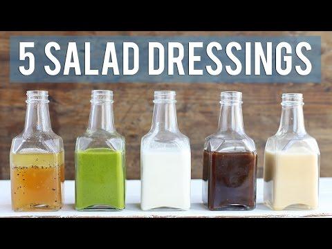 5 Homemade Salad Dressings | EASY + HEALTHY