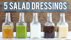 5 Homemade Salad Dressings | EASY + HEALTHY