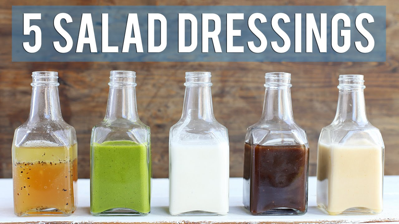 5 homemade salad dressings easy healthy youtube