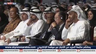 رئيس الوزراء الإماراتي الشيخ محمد بن راشد في جلسة حوارية في القمة العالمية للحكومات