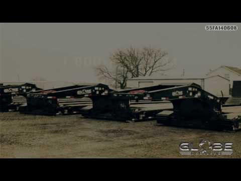 Globe Trailers: 55 Ton w/ Hydraulic Flip Axle 55FA140608