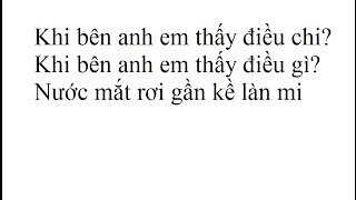 Âm Thầm Bên Em Lyrics KARAOKE Sơn Tùng MTP Offical