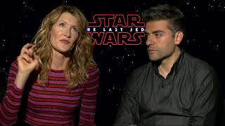 """Star Wars: The Last Jedi: Laura Dern """"Vice Admiral Holdo"""" & Oscar Isaac Official  Interview"""