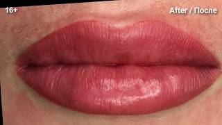 Перманентный макияж губ Перекрытие Lips permanent makeup cover up Koleinikova com