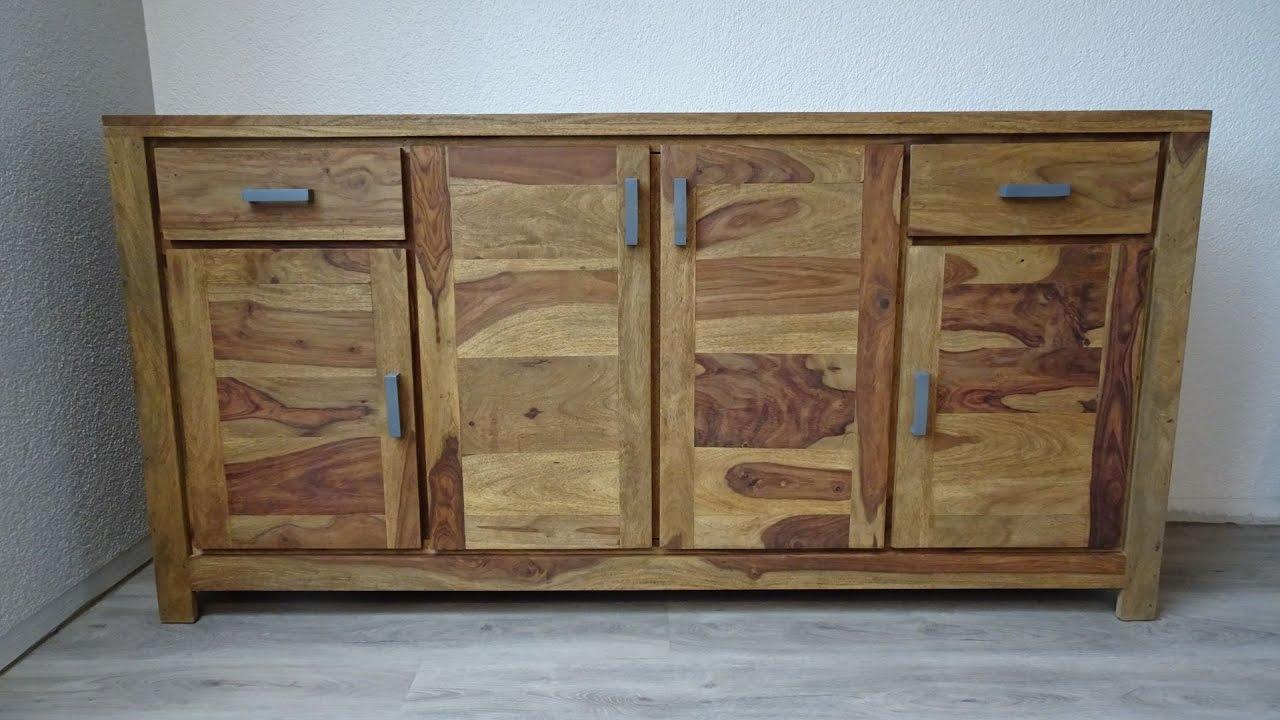 Sideboard Buddha Aus Sheesham Holz Von Kolonialmöbel24
