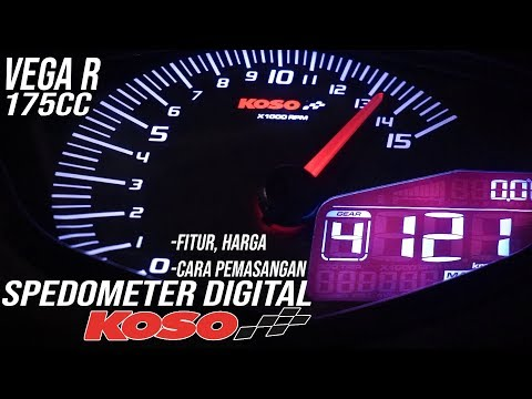 MODIFIKASI SPEEDOMETER DIGITAL KOSO VEGA R 175cc