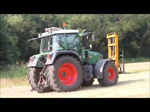 Hay Bale Tractor Stuck in Mud Forklift Loader Packing Truck Transportation Agriculture Mega Machines