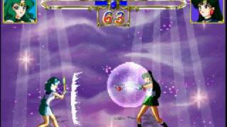 Sailor Neptune vs Sailor Pluto(Playstation)