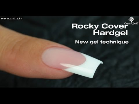 Step By Tutorial To Sculpting Square Nails Using Crystal Rocky Cover Hard Gel