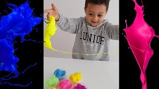 Playing with Slime for kids