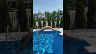 High Dive Backwards Fancy Dive off Diving Board #shorts