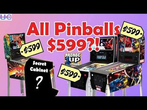 ALL Arcade1up Pinballs Now $599 and What's The Big Mystery Announcement Coming Feb 11?! from Unqualified Critics