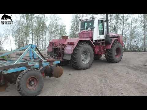 Первый выезд в поле трактора Кировца К-744
