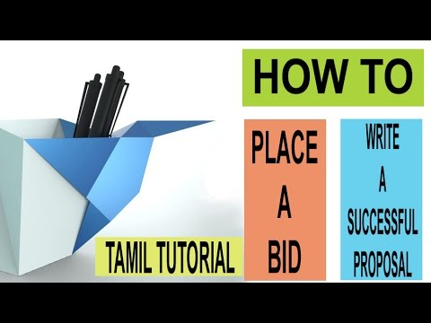 HOW TO BID AND WRITE A WINNING PROPOSAL FREELANCER.COM TAMIL TUTORIAL