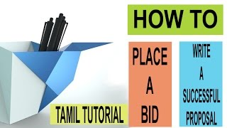 how to bid and write a winning proposal freelancer com tamil tutorial