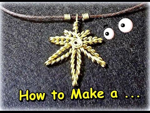 "Como hacer en Alambre ""Hoja de Marihuana""/How to Make a ""Mariuana Leaf Wire""- By Puntoy Alambre"