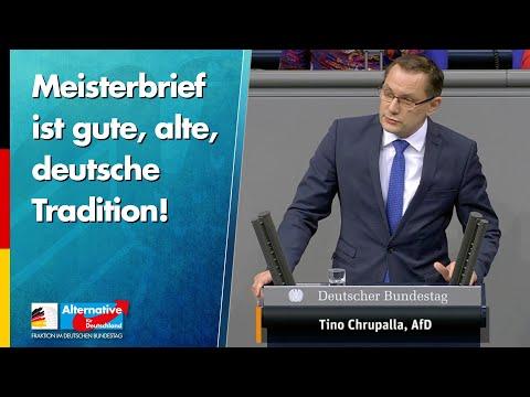 Meisterbrief ist gute, alte, deutsche Tradition! - Tino Chrupalla - AfD-Fraktion im Bundestag