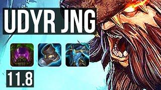 UDYR vs ELISE (JUNGLE) | 9/0/8, Rank 5 Udyr, Legendary | TR Grandmaster | v11.8