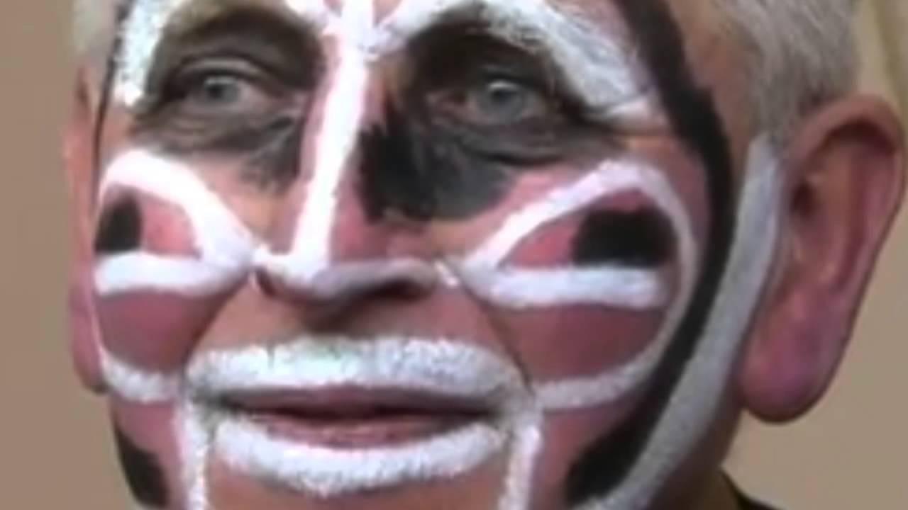 Maquillage de noir zoulou carnaval de dunkerque