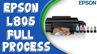 Epson L805 Printer Unboxing Review Setup Sublimation Printer 6 Colour Printer T-shirt Printing