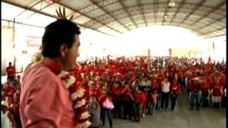 Hétor Yunes L. mitin comunidad Entabladero, Espinal, Ver. 2 mayo