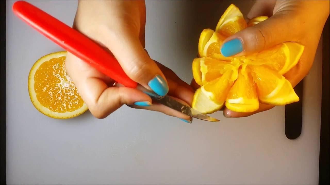 Orange Flower Carving For Beginners - Orange Fruit Art & Designs