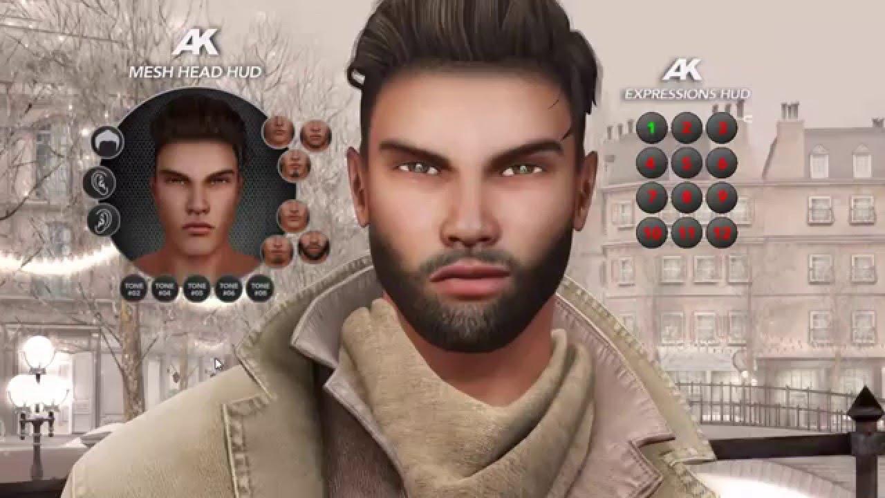Akeruka Ray Male Mesh Head in Second Life