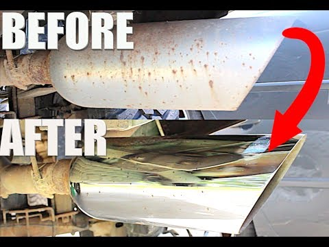 HOW TO CLEAN EXHAUST TIPS AT HOME *EASY*