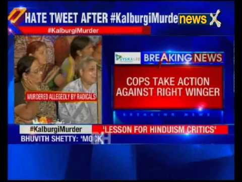 Threat tweet after MM Kalburgi murder: Youth arrested in Bantwal