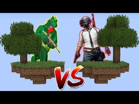 ILHA DO FREE FIRE VS ILHA DO PUBG no MINECRAFT !! thumbnail