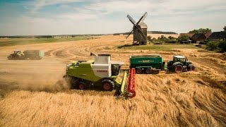 Agrargenossenschaft Böhne in der Beetzseeheide - ext. - Ernte 2015 - Claas - Fendt - Phantom 3