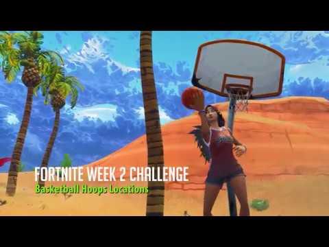 Fortnite Week 2 Challenge: Basketball Hoops Locations