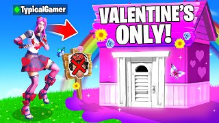 I Went UNDERCOVER in a VALENTINE'S DAY ONLY Tournament! (Fortnite)