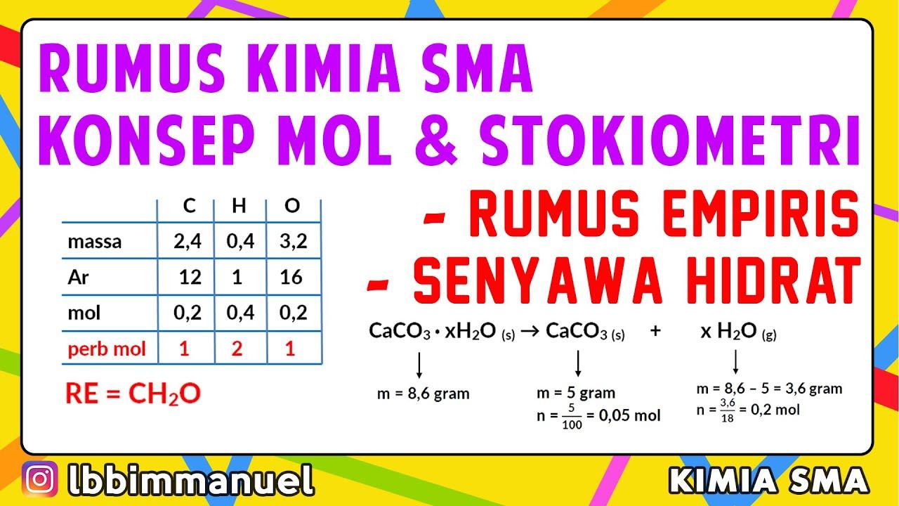 Konsep Mol dan Stokiometri - RUMUS LENGKAP KELAS 10 ...